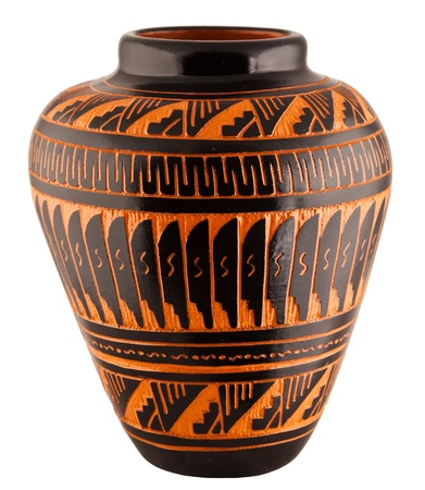 Navajo Native American Clay Pottery Decorative Vase photo