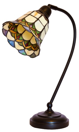Tiffany Stained Glass Office Desk Table Lamp  photo
