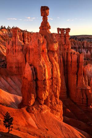 Sunrise On Thors Hammer Bryce Canyon National Park  Utah
