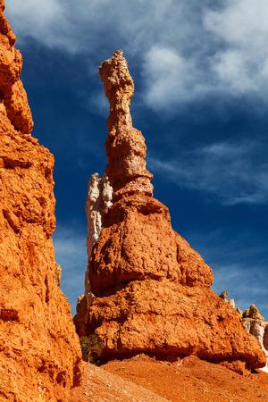 hoodoos: Bryce Canyon National Park Hoodoos in Queens Gardens Utah Stock Photo