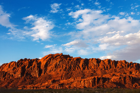 Mojave Desert Red Rocks In Valley Of Fire State Park Nevada Stock Photo