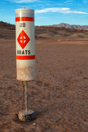 Colorado River and Lake Mead National Recreation Area Drought Water Level  Stock Photo