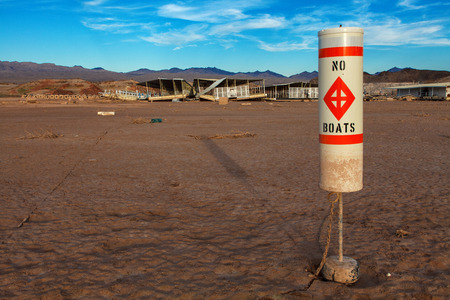 mead: Colorado River and Lake Mead National Recreation Area Drought Water Level  Stock Photo