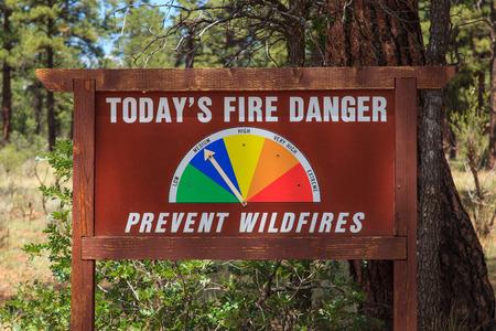 u s: Forest Fire Danger Sign Kaibab National Forest Tusayan, Arizona