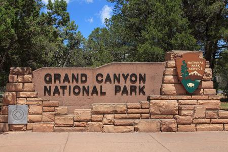 Grand Canyon National Park Entrance SignArizona 版權商用圖片