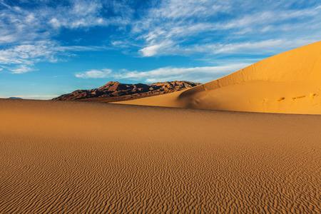 Eureka Sand Dunes Death Valley National ParkCalifornia Stock Photo