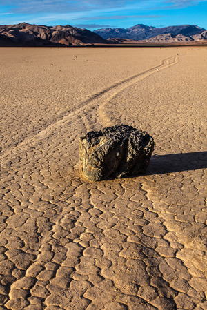 The Racetrack Death Valley National Park California Stock Photo