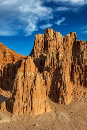 nevada desert: Nevada Great Basin Desert Red Rock Landscape Cathedral Gorge State ParkPanaca, Nevada Stock Photo