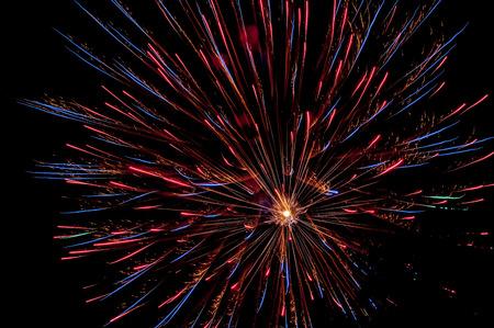 sparkling fireworks in a park