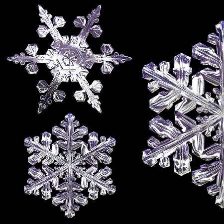 set of snowflakes Banque d'images
