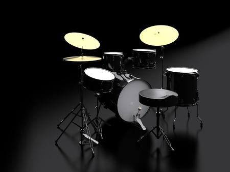 tambores: 3d bater�a Foto de archivo