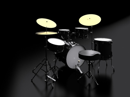 3d drum kit Stock Photo - 13197892