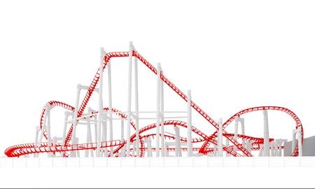 3d roller-coaster Standard-Bild