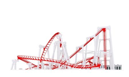 3d roller-coaster Stock Photo