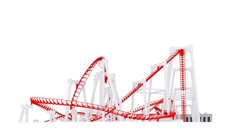 3d roller-coaster Stock Photo