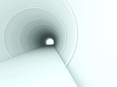 3d abstract tunnel Stock Photo