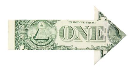 dollar growth arrow on a white background Stock Photo - 13796706