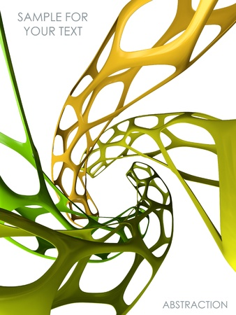 3d abstract bionic background Stock Photo