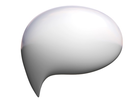 chat bubble: 3d talking bubble