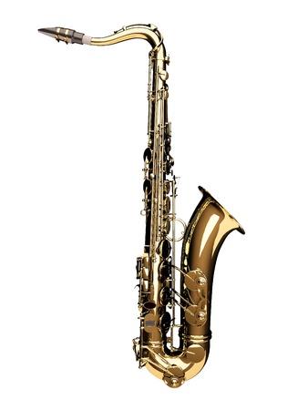 saxof�n: Saxof�n 3d Foto de archivo