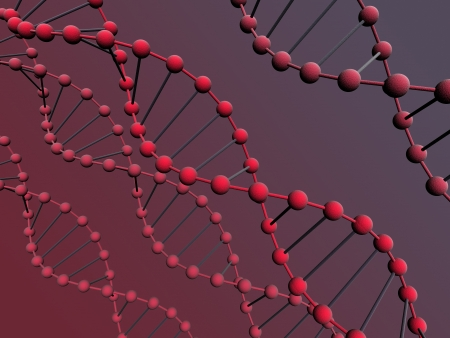 3d dna on the gradient background photo