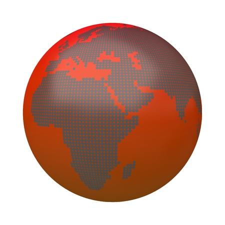 3d warming globe on the white background Stock Photo - 13955730