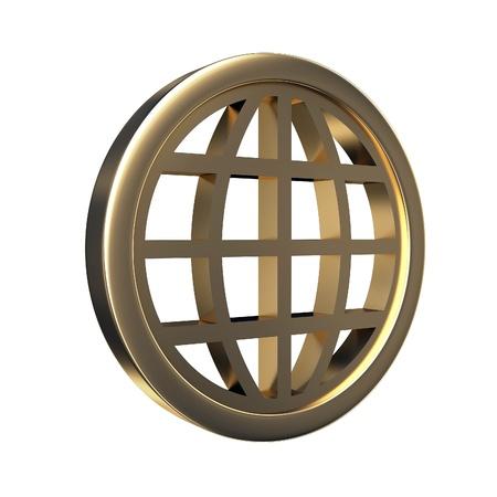 white bacground: 3d globe symbol on the white bacground
