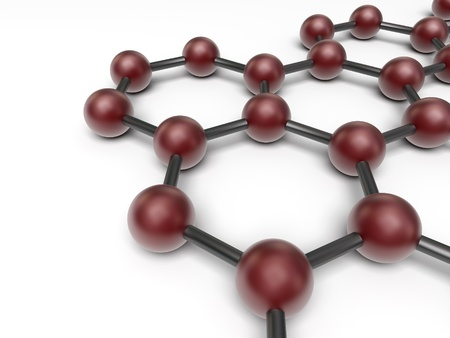 нано: 3d нано структура на белом фоне