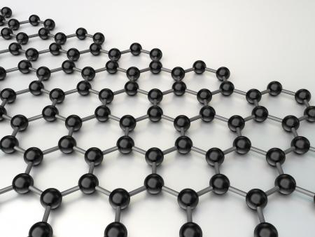 3D nano-structuur op de witte achtergrond