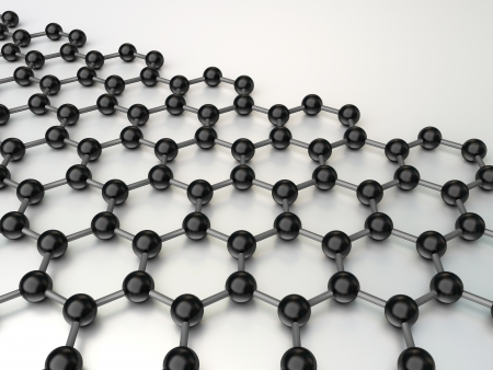3d nano structure on the white background Standard-Bild