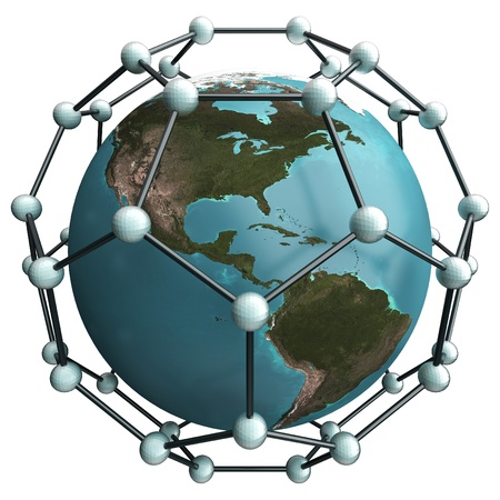 isolated earth whith nano net structure Stock Photo - 14091962