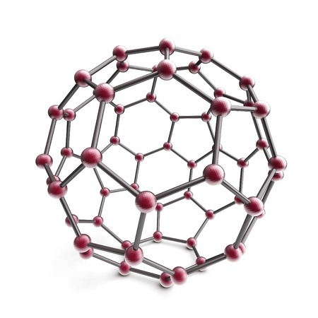 3d molecule sphere on the white background photo