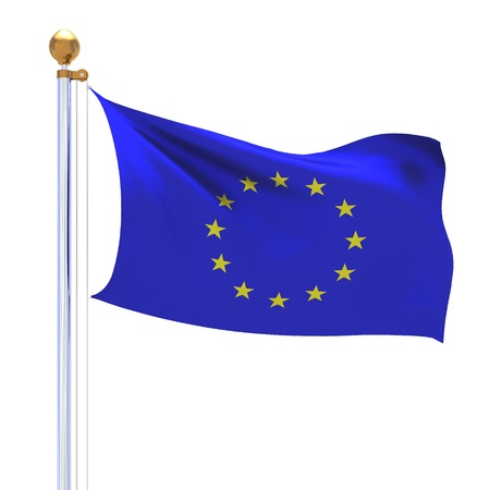 European Union isolated silk flag photo