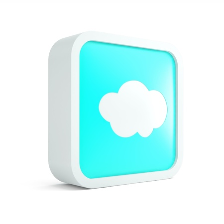 three dimensional accessibility: Cloud computer technology icon on a white background Stock Photo