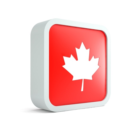 Canadian flag icon on a white background photo