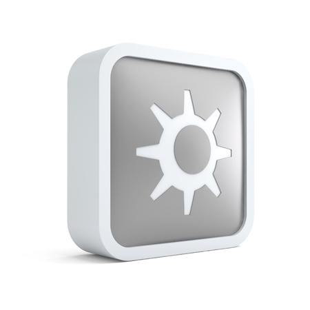 3d sun summer season icon on a white background photo