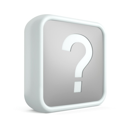 Help 3d icon on a white background Stock Photo - 17495927