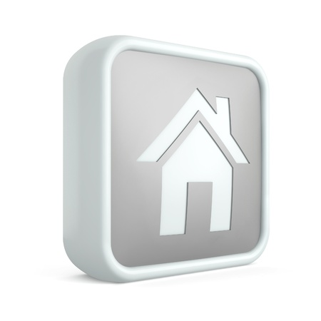 3d home icon on awhite background Stock Photo - 17496122
