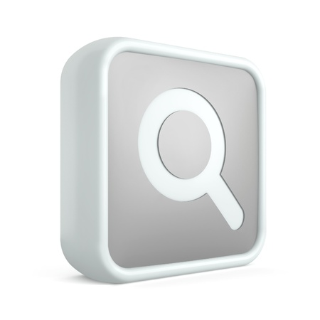 3d search internet icon on a white background