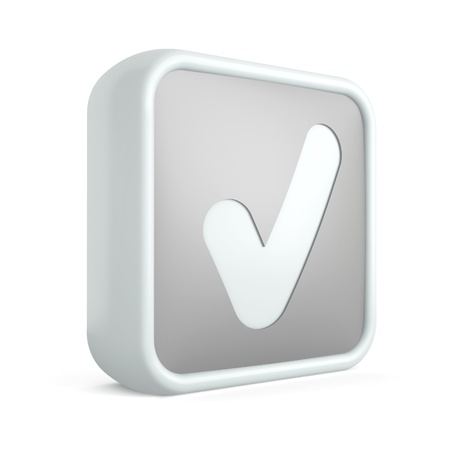 3d check mark icon on a white background Stock Photo - 17728435