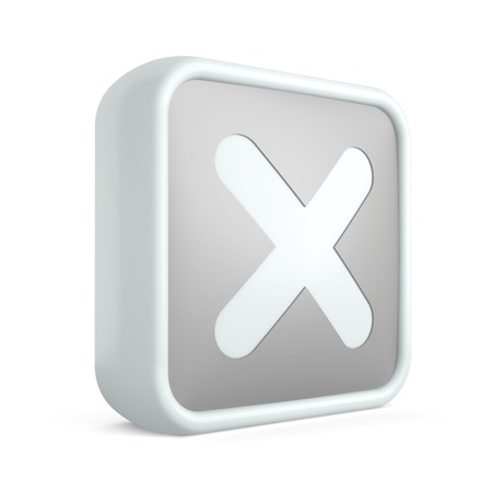 3d cross icon on a white background Stock Photo - 17728434