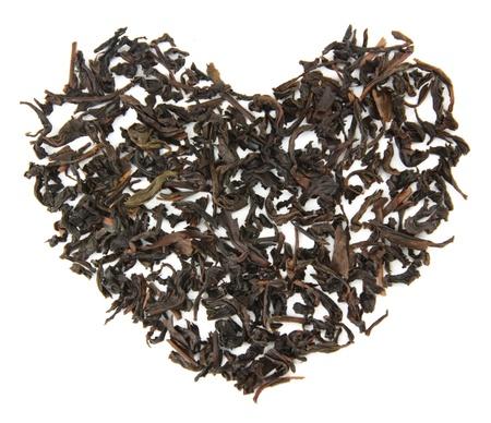 Tea brew heart on a white background Stock Photo - 17855742
