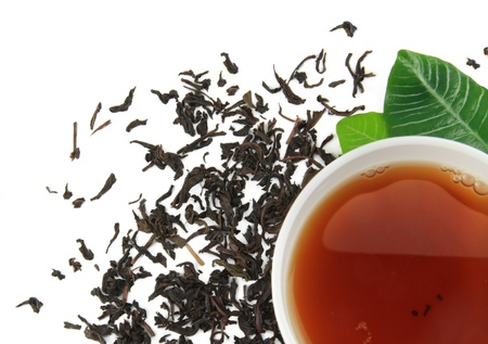 A cup of tea with tea brew on a white background Stock Photo - 17855743