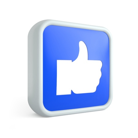 Like icon thumb up on a white background Stock Photo - 18996109