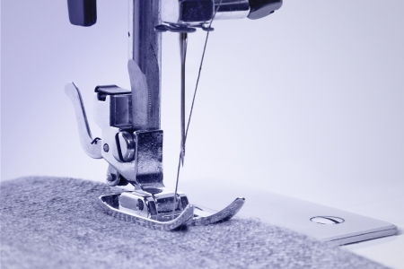 Sewing machine in the studio scribbling denim Stock Photo - 19687007