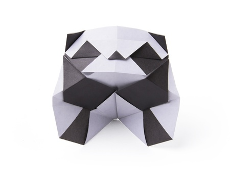 Origami paper panda bear on a white background Stock Photo - 20270457