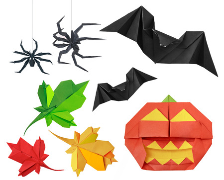 spider: Halloween set on a white background