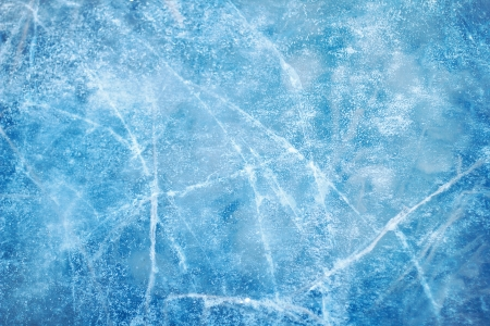 Textured ice blue frozen rink winter background Banco de Imagens