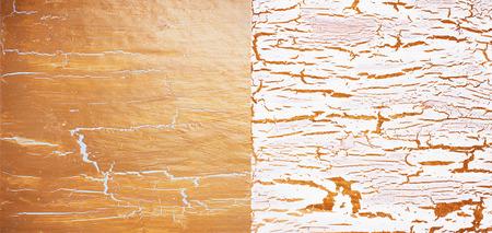 craquelure: Cracked white and golden atrs antique background set Stock Photo