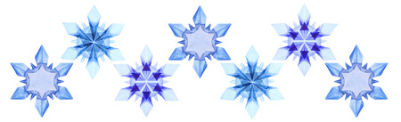 fragility: Origami paper fragility ice blue christmas winter cold snowflakes  set on a white background